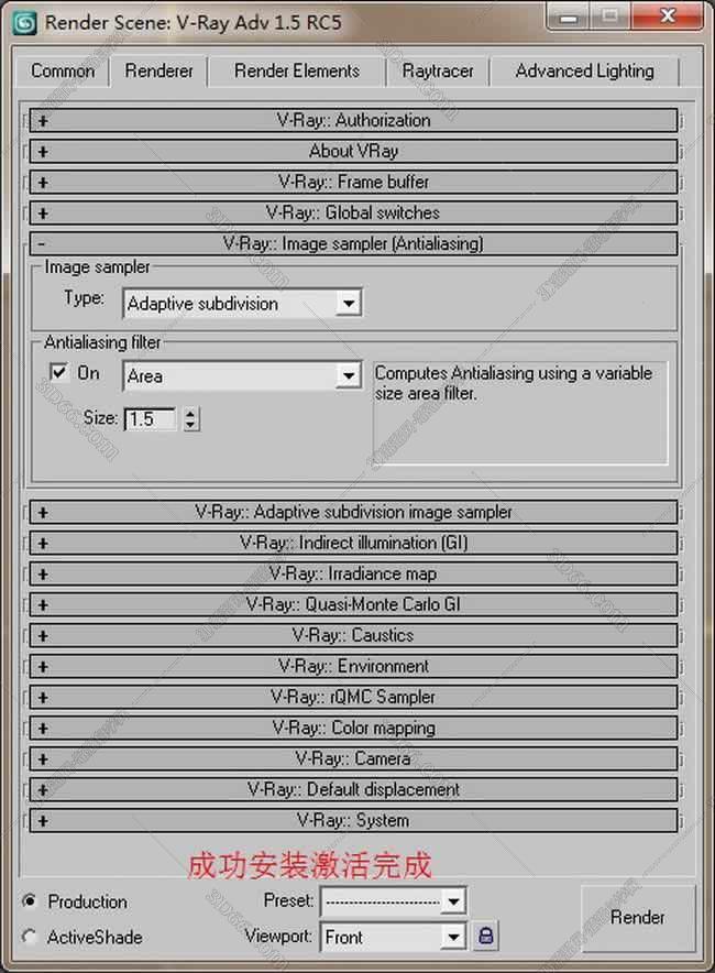 vray1.5【adv 1.5 rc5 for 3dmax9】渲染器(32位)英文版安装图文教程、破解注册方法图十八