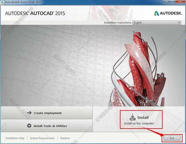 Autocad2015【cad2015】英文(64位)官方破解版免费下载安装图文教程、破解注册方法图二