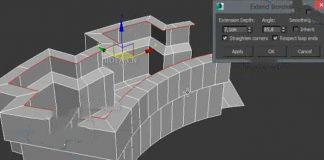 3DsMax2010-2016多边形挤出建模插件Extends Borderrs V1.0