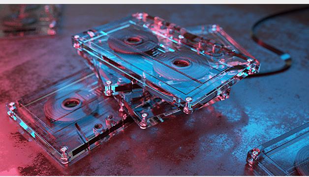 C4D教程之渲染写实磁带场景