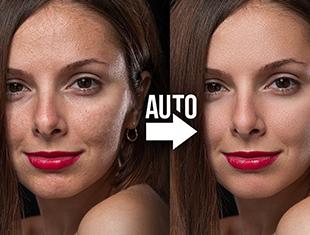 最好的自动皮肤软化Photoshop动作