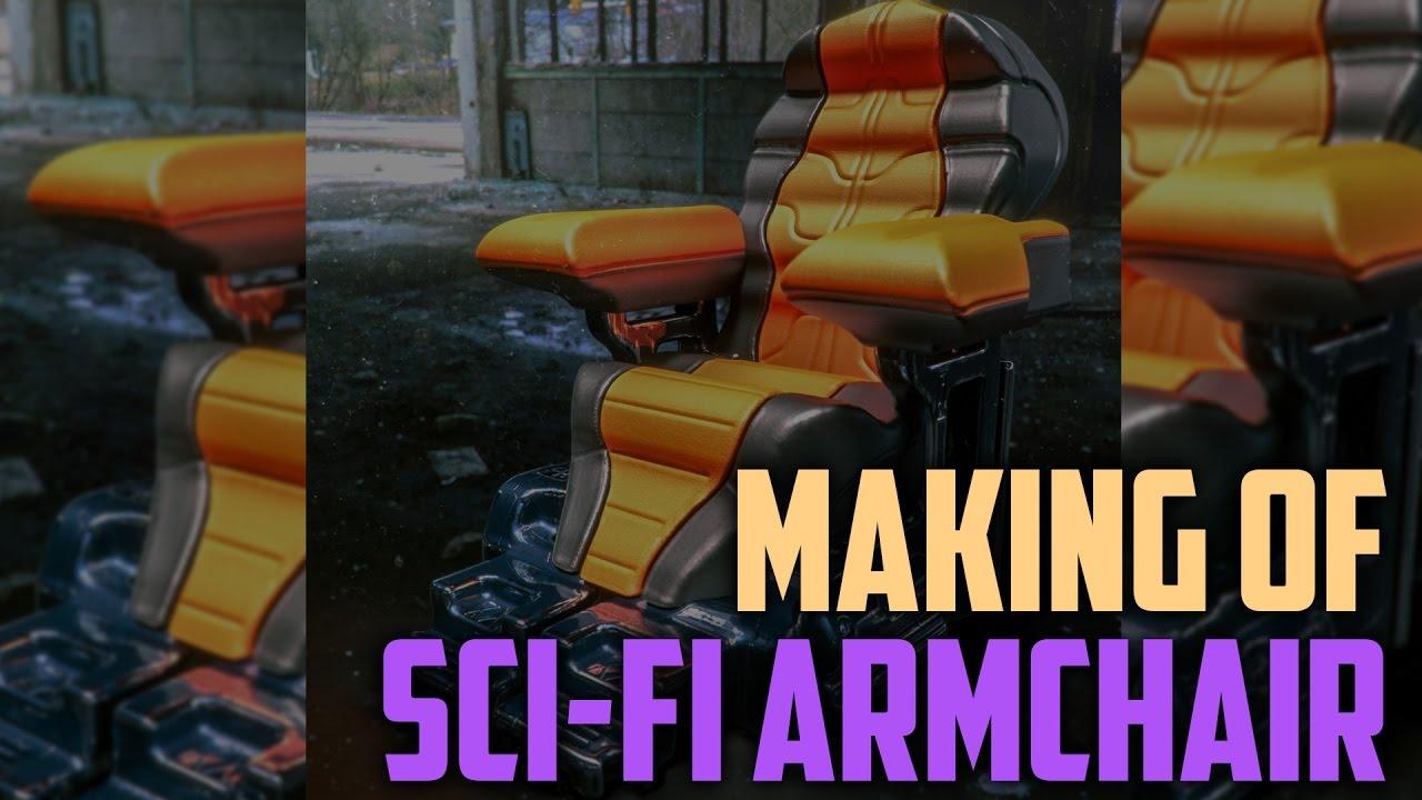 Vray和VRSCans中的科幻扶手椅概念