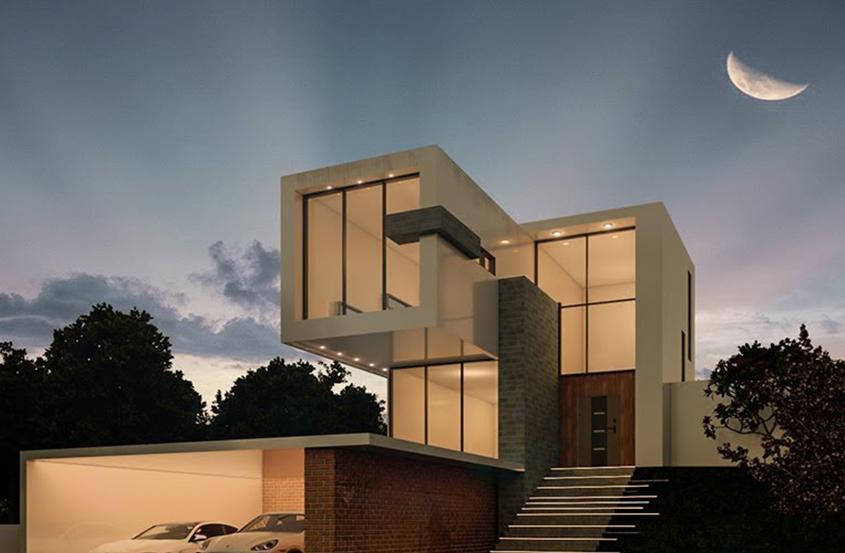 SketchUp现代别墅设计方案制作教程