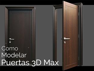 """3D MAX描述中的""""内部的简单门"""