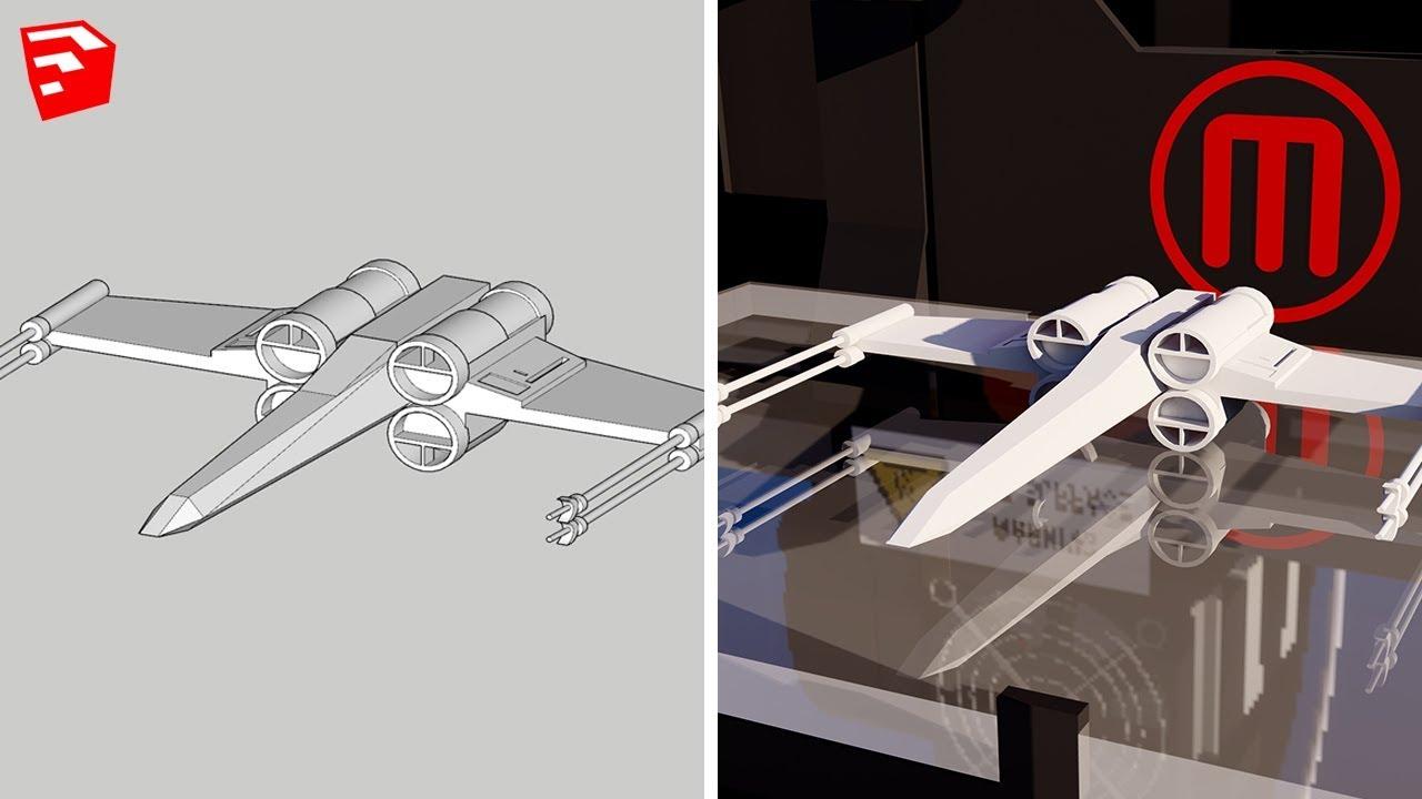 修改3D模型以使用Sketchup进行3D打印