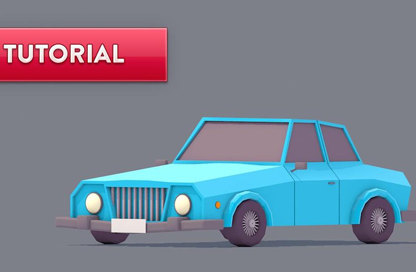 C4D小汽车建模制作教程
