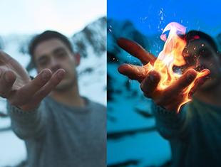 如何创建photoshop CC创建火焰手照片—无字幕讲解