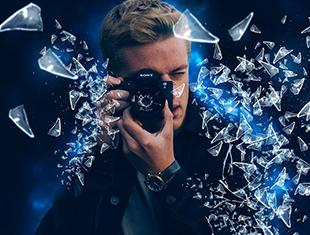 Photoshop<esred>如何</esred>创建玻璃破碎效果教程