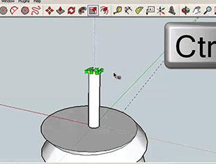 Sketchup软件使用指南:绘制三维模型绘制一个螺丝
