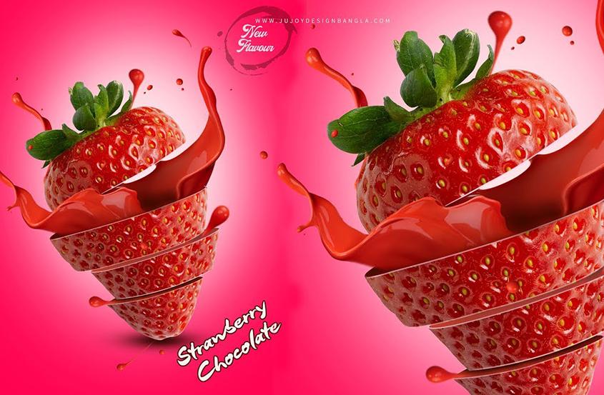 PS草莓海报制作教程