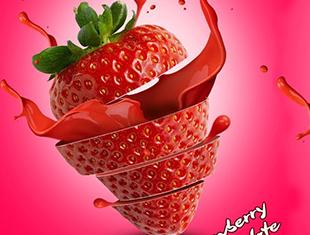 PS草莓海报制作—无字幕讲解
