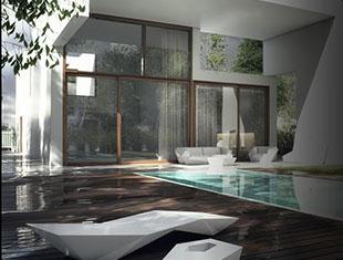 3dmax现代住宅建模渲染教程