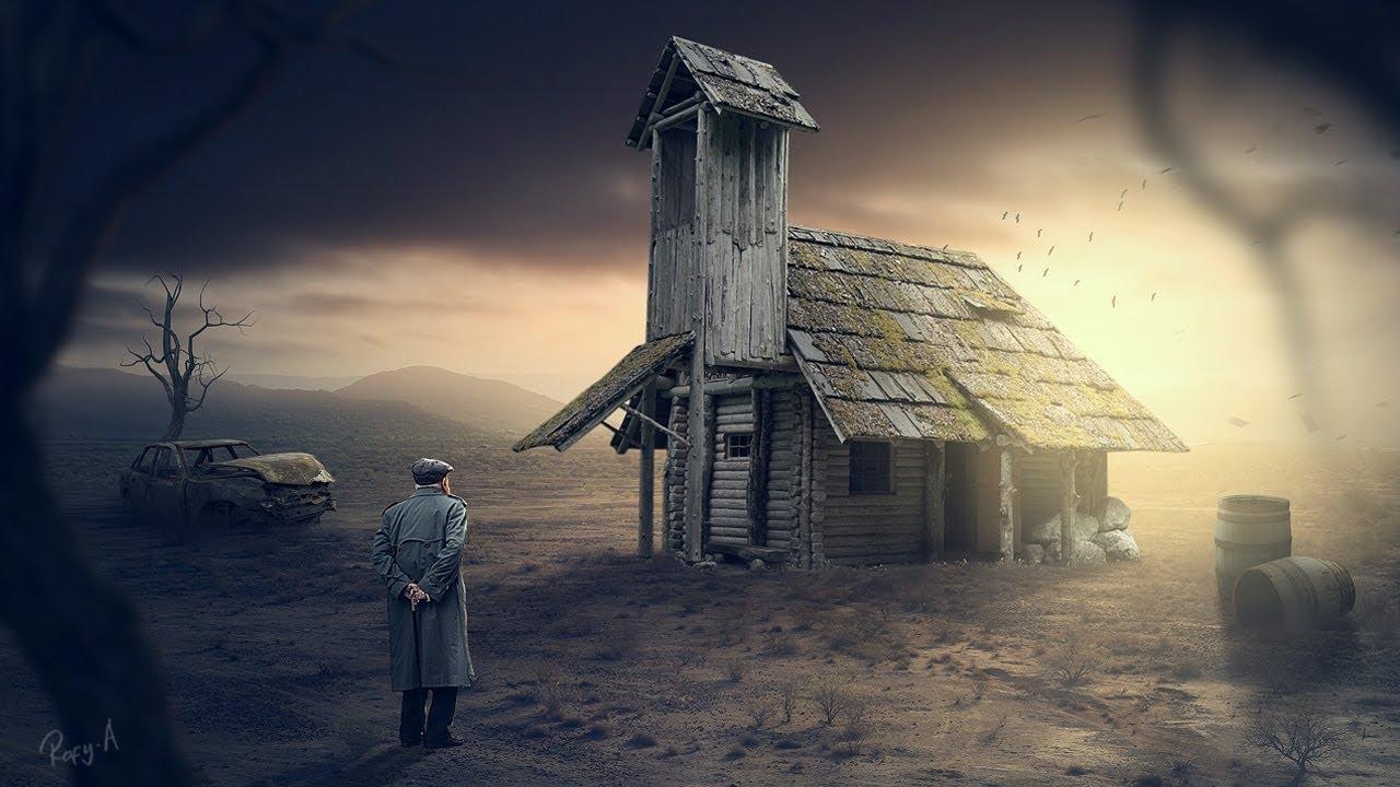 老房子-Photoshop操作教程处理—无字幕讲解