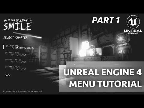 UE4菜单教程-视频设置(UE 4 小部件的蓝图)第1-4部分