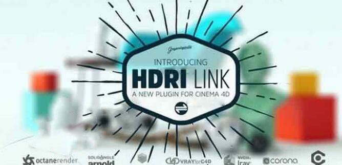 C4D渲染器连接插件:GreyscaleGorilla HDRI Link V1.05