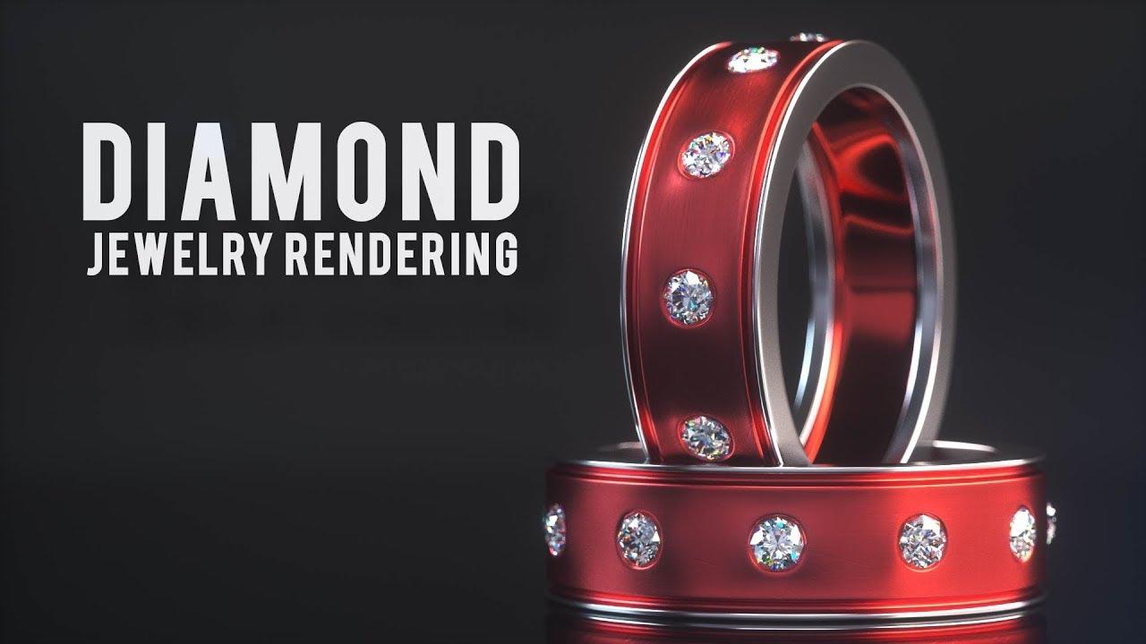 C4D+Octane Render珠宝产品渲染案例教程视频教程