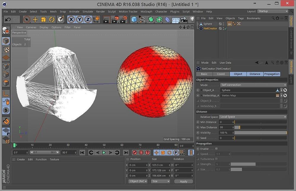 C4D线框生成器插件:NetCreator