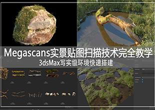 Megascans实景贴图扫描技术完全教学+3DMax写实级环境快速搭建