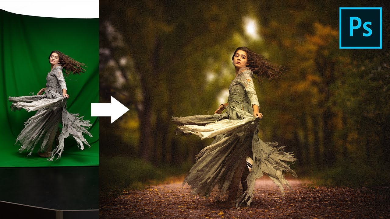 Ps中创建绿色屏幕图像教程