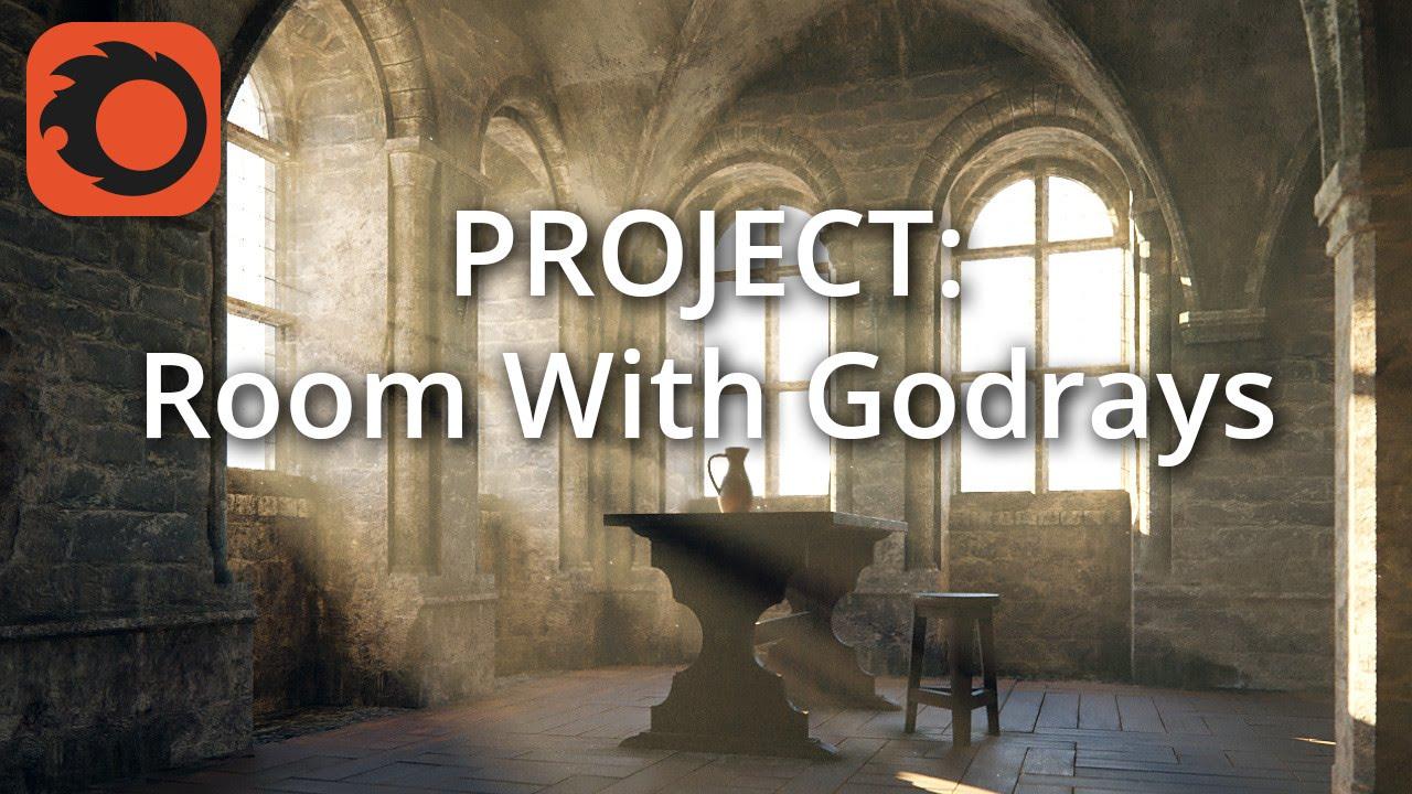 Corona渲染用上帝的光线创造房间教程(2-5:建模)视频教程
