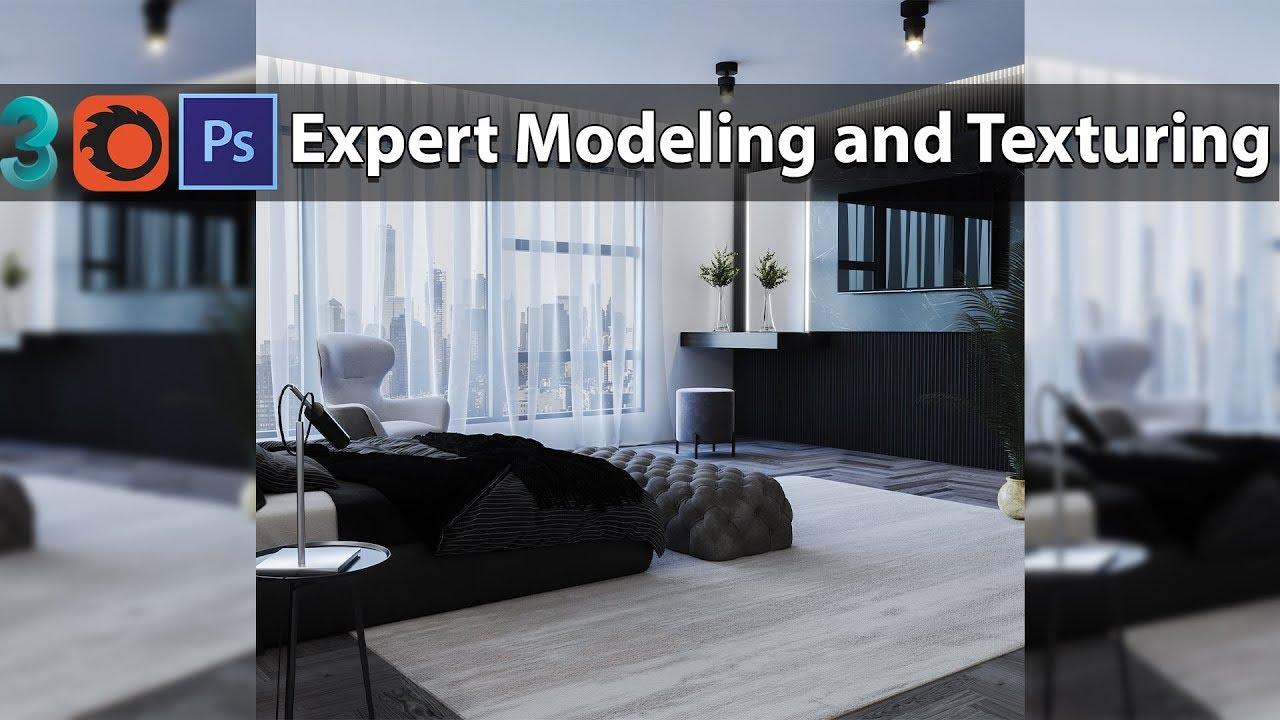 3DMAX专业建模和贴图+Corona渲染讲解