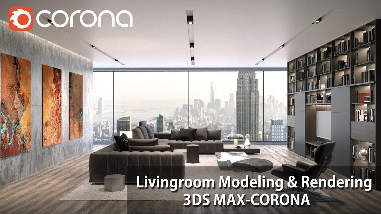 3DMAX+CR渲染器客厅造型及后期制作教程