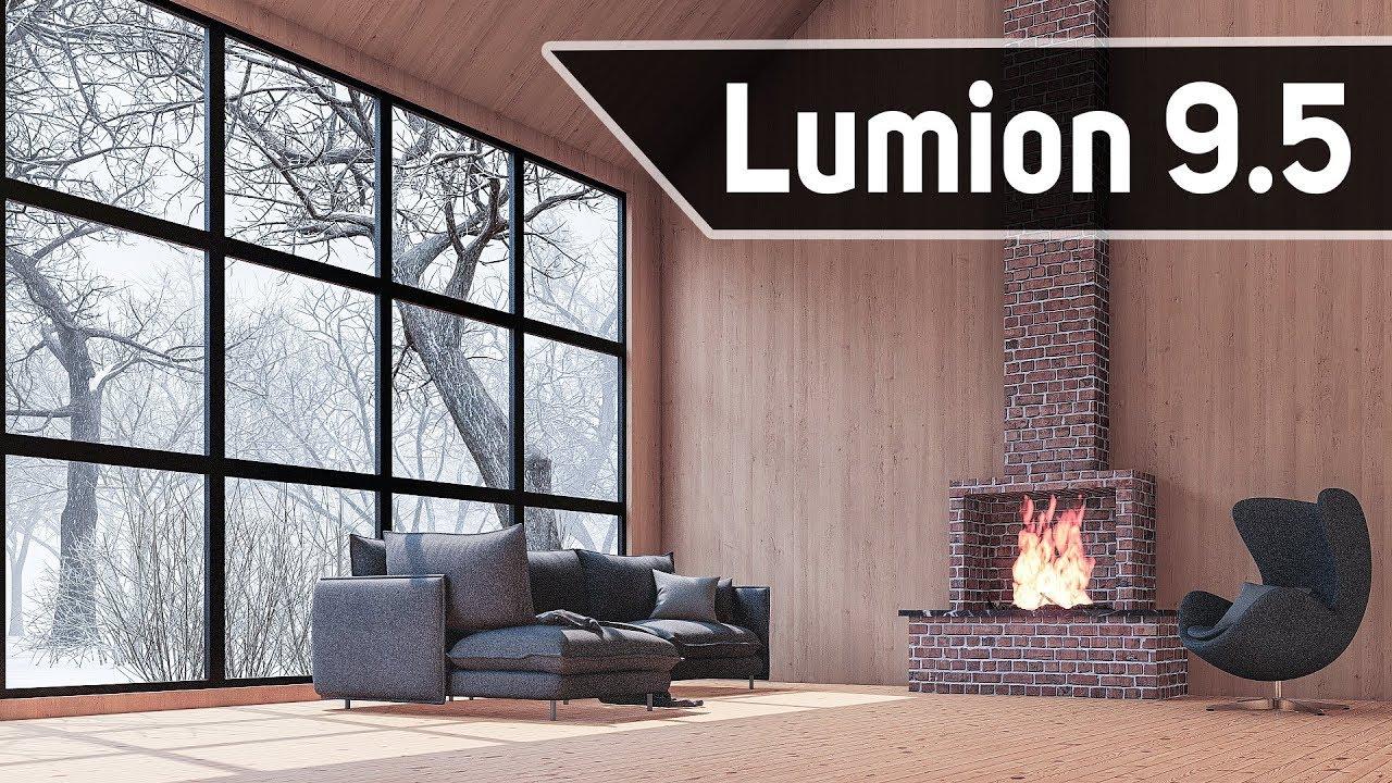 Lumion9.5室内冬季场景工作流教程