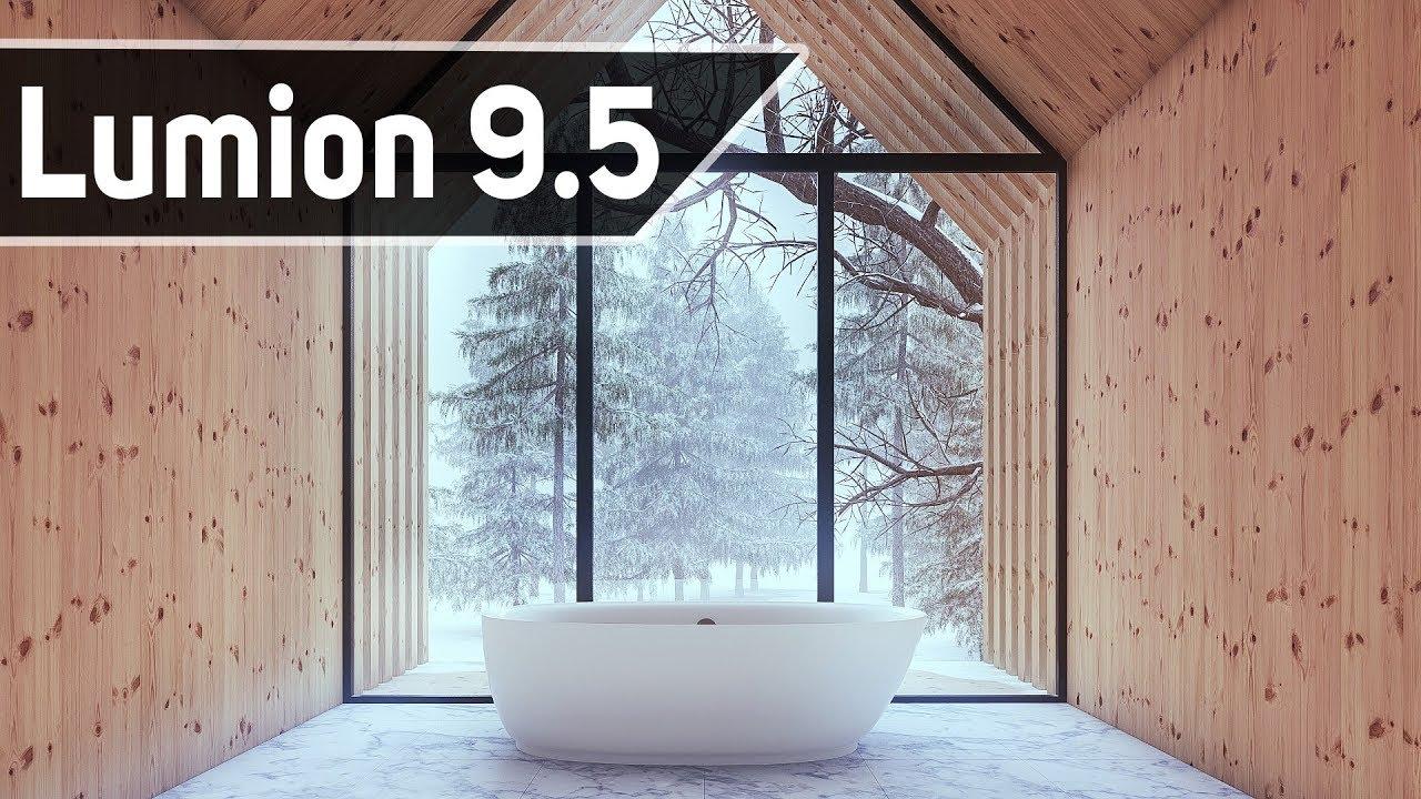 3DMax和Lumion 9.5室内浴室场景工作流讲解