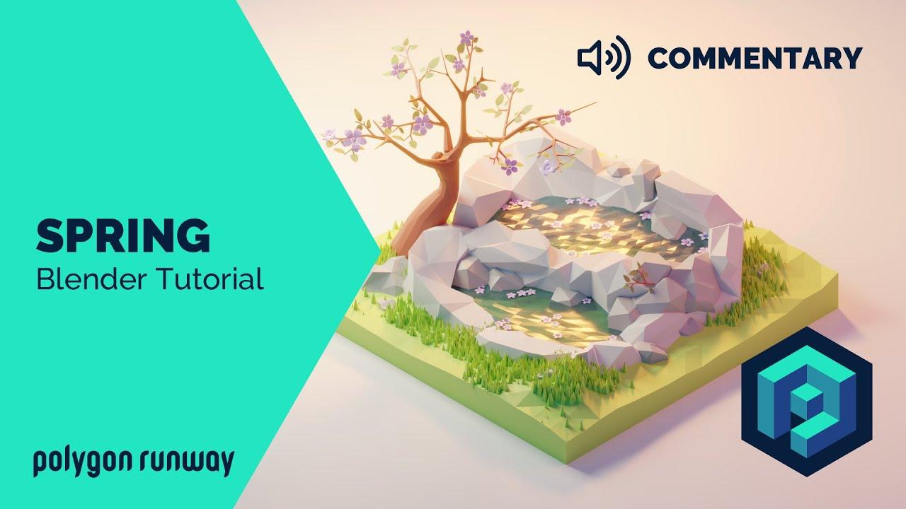 Blender 2.8低多边形3D建模和渲染视频教程