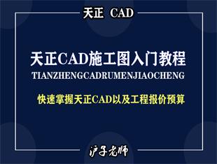 天正CAD施工图与工程报价课程