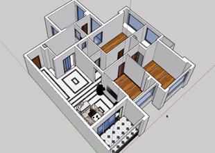 室内户型草图大师建模下篇视频教程