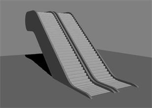 如何利用3Dmax制作自动扶梯动画效果
