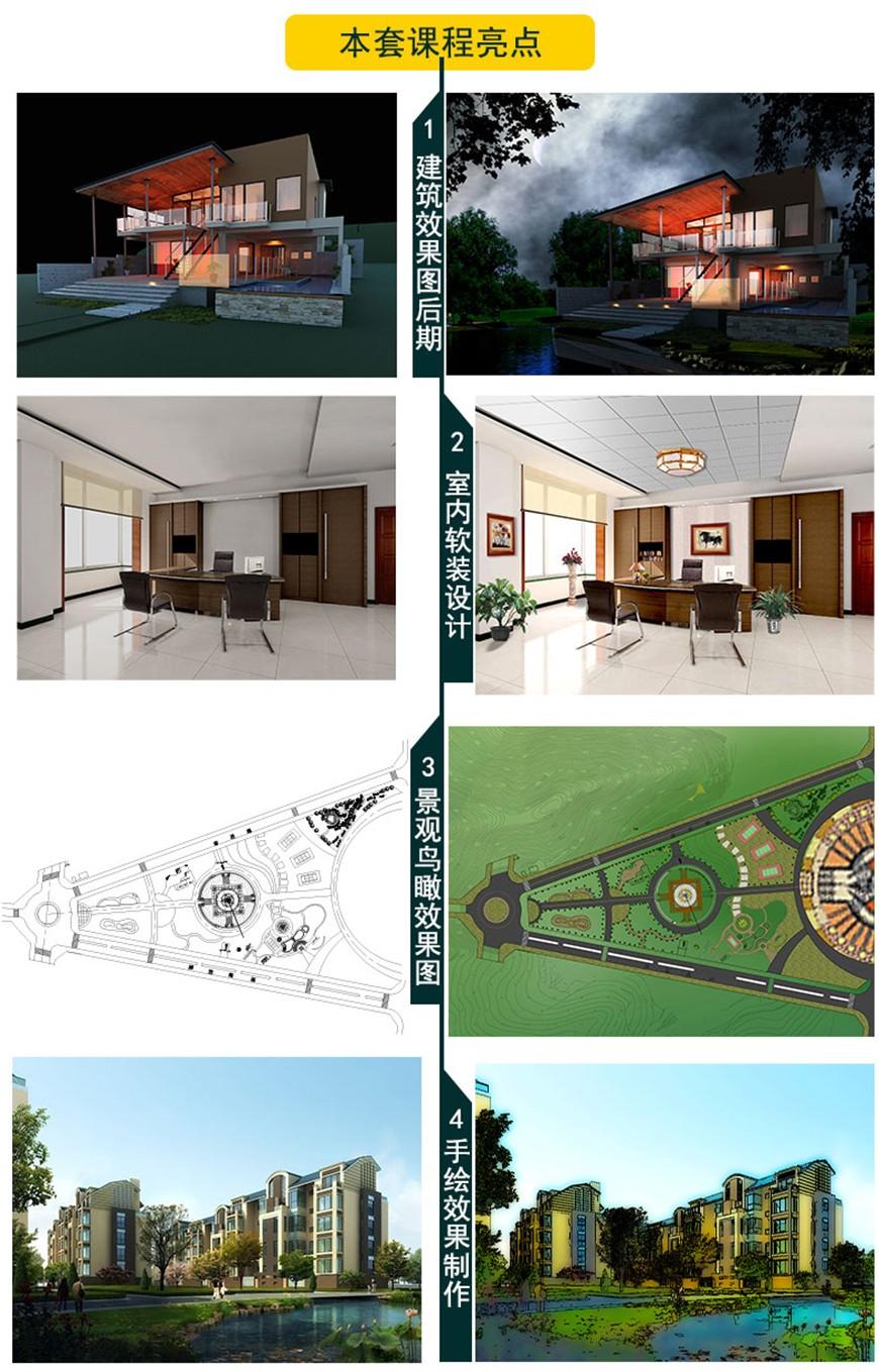 室内/室外效果图PS后期处理教程