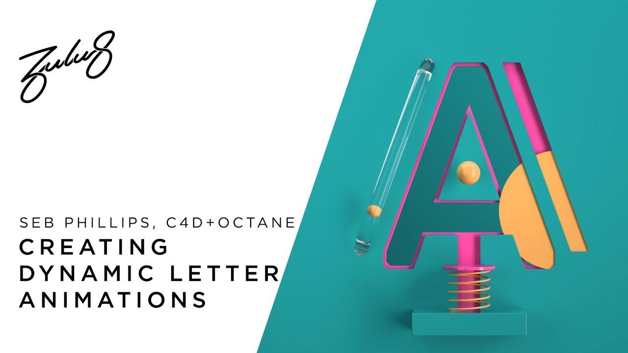 在C4D和Octane渲染中创建动态字母动画教程
