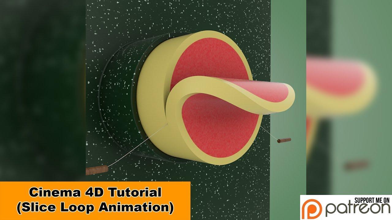 C4D切片循环动画制作教程