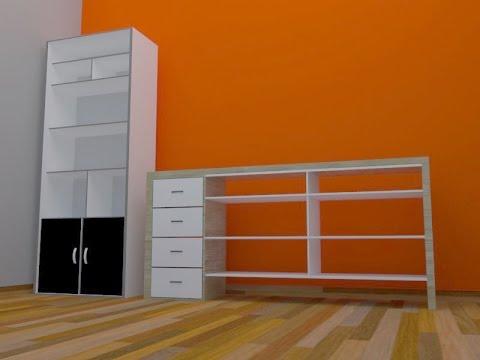 在GoogleSketchup上绘制家具-Office.jpg