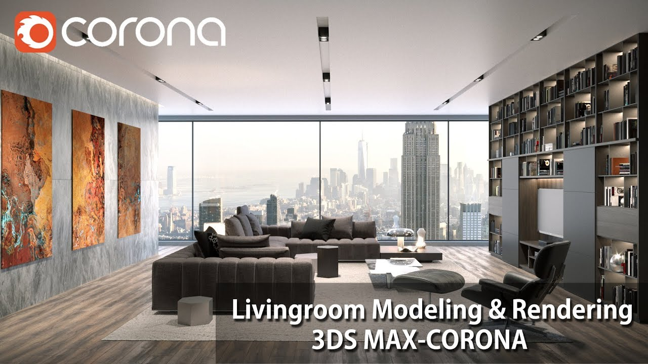 3dmax Cr渲染器客厅造型及后期制作教程