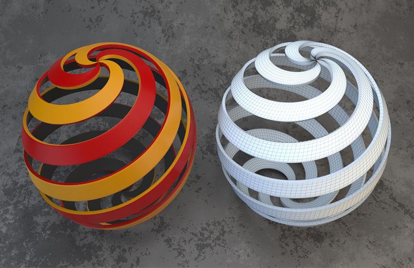 3dmax制作螺旋球体模型教程