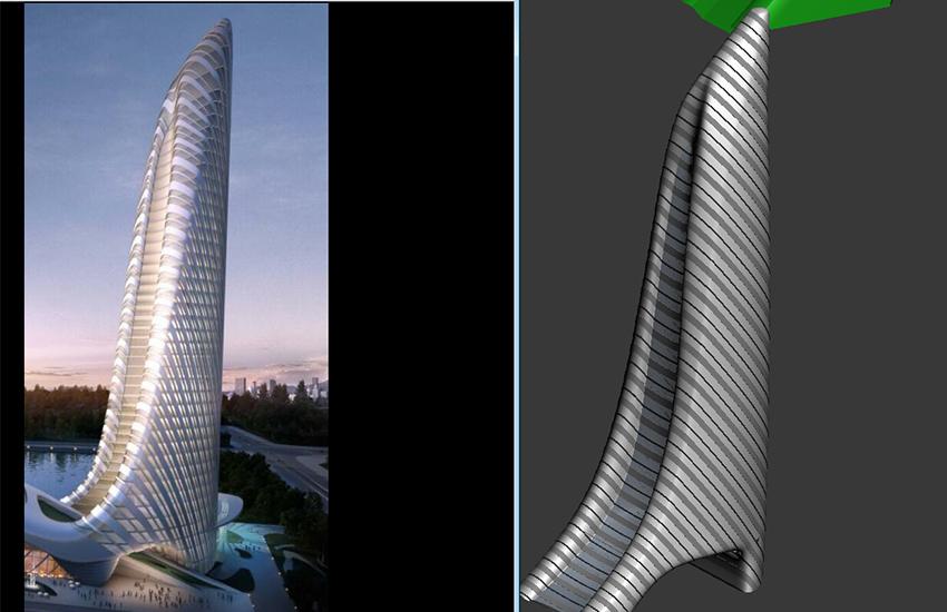 3dmax制作异形建筑放射状外立面教程