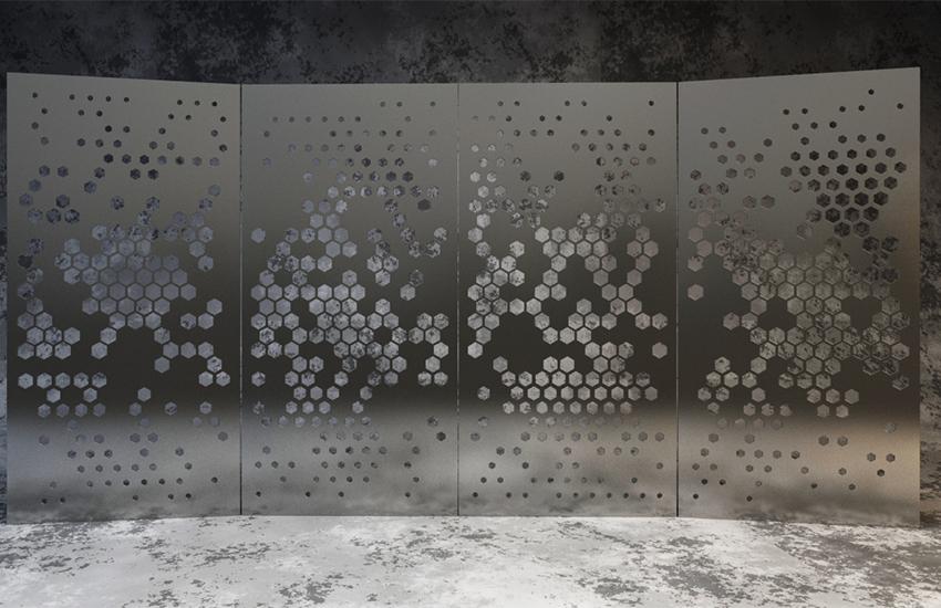 3dsmax渐变与随机共存的镂空铁板建模教程