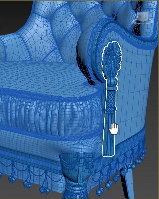 奢华欧式单人椅子3d建模视频教程