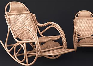 3DMax藤编椅案例制作全流程教程