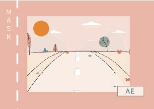 【<esred>AE</esred>教程】正面视角的道路动画教程