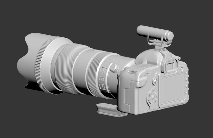 3Dmax硬表面产品工业建模-涡轮平滑应用