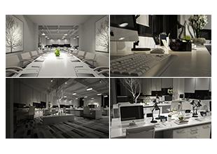超写实黑白调办公室材质灯光表现技法视频教程