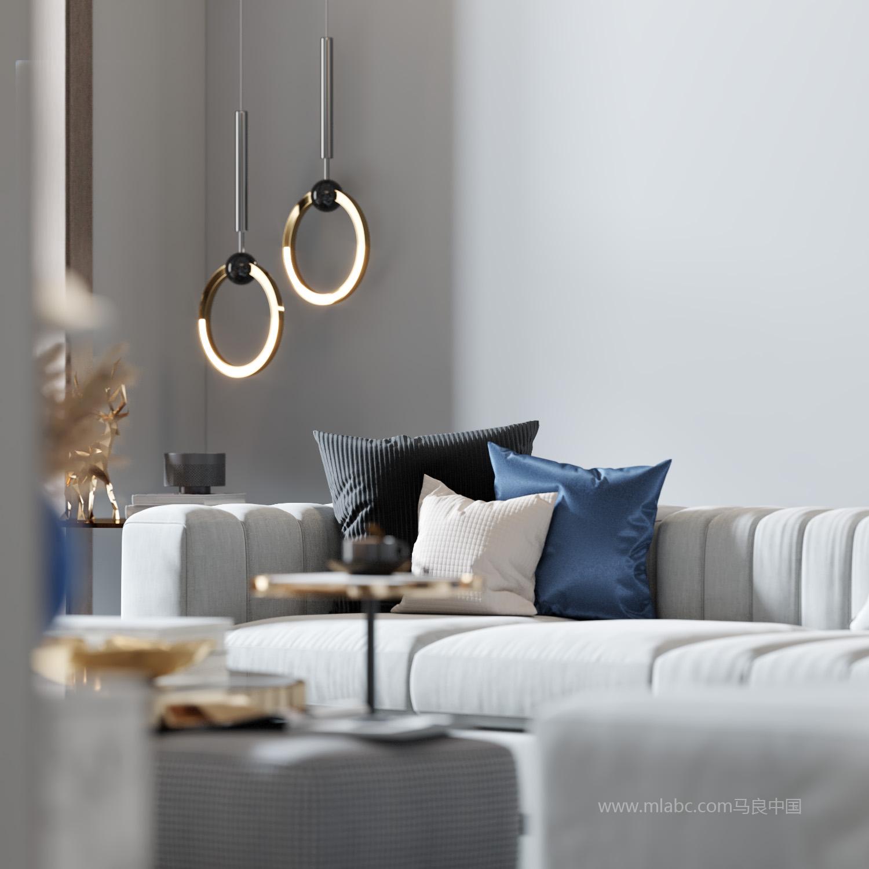 现代客厅《新马良渲染十八》