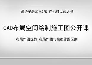 CAD布局空间绘制施工图公开课