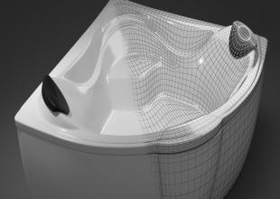 3dmax建模教程——浴缸