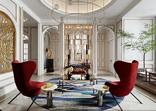 corona渲染___法式客厅